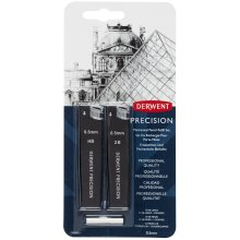 Derwent 0.5 mm Precision Mechanical Pencil Refill Set HB/2B Leads