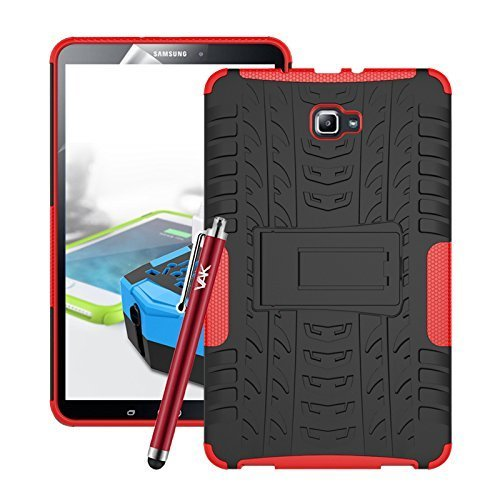 (Red) For Galaxy Tab A 10.1-Inch 2016 ShockProof Case