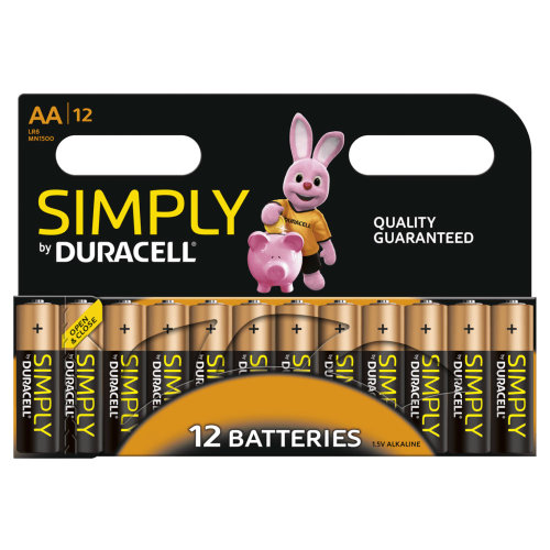 12pk Simply By Duracell AA Batteries
