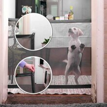 Magic Mesh Fence Enclosure Retractable Pet Dog Cat Gate Safe Ne