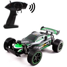deAO Remote Control High Speed Off Road Race Car with 2.4Ghz Frequency & 25 km/h Speed (Green)