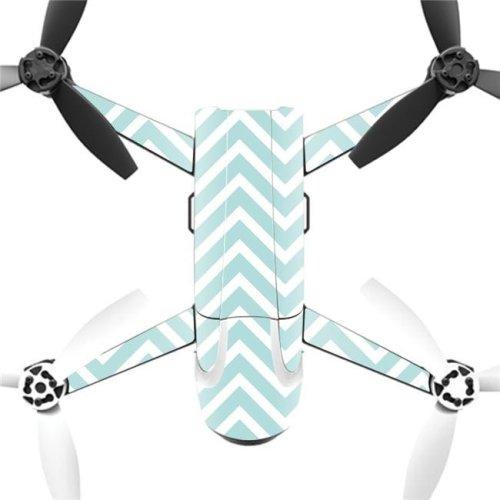 MightySkins PABEBOP2-Aqua Chevron Skin Decal Wrap for Parrot Bebop 2 Quadcopter Drone - Aqua Chevron