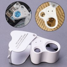 Jewellers Eye Jewelry Lens Glass Loupe 30X 60X Magnifier Magnifying LED Light UK