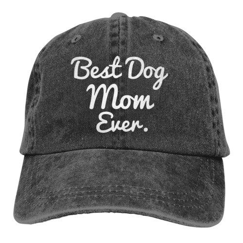 Best Dog Mom Ever Denim Baseball Caps