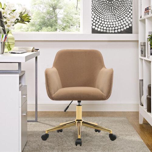 (Coffee) Velvet Office Swivel Chair