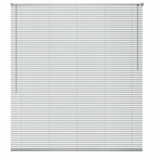 vidaXL Window Blinds Aluminium 160x220cm Silver Shade Louver Tilt Wand Control