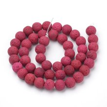 Natural Red Lava Beads Loose Beads Round 6mm