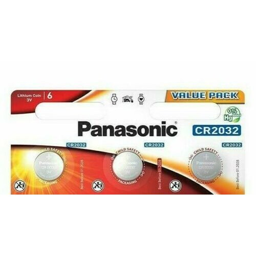 Genuine Panasonic CR2032 Lithium Coin Batteries Expiry Date 01/2029 Pack of 3