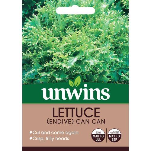 Unwins Grow Your Own Lettuce Endive Can Can Vegetable Seeds