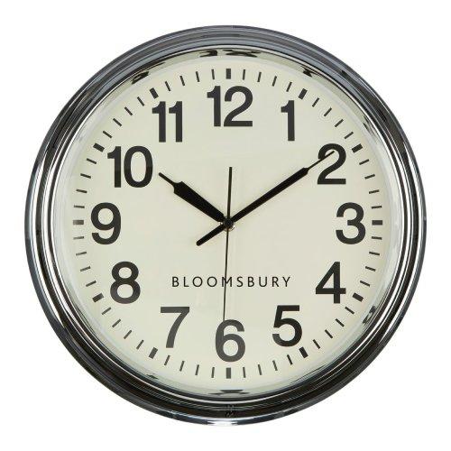 Bloomsbury Wall Clock, Chrome