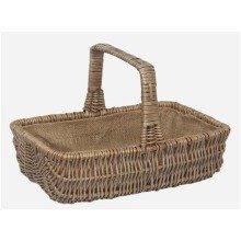 Wicker Rectangular Garden Basket Trug Small