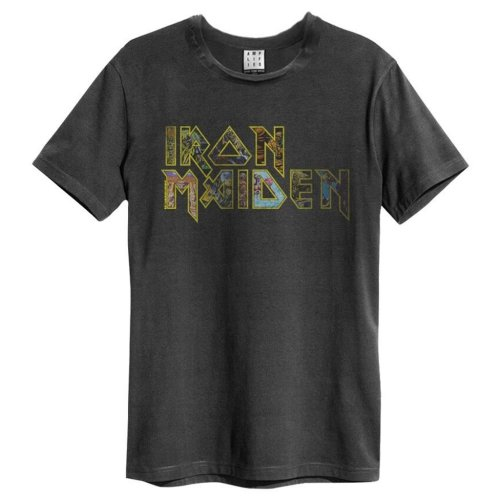 Iron Maiden 'Eddies Logo' (Charcoal) T-Shirt - Amplified Clothing