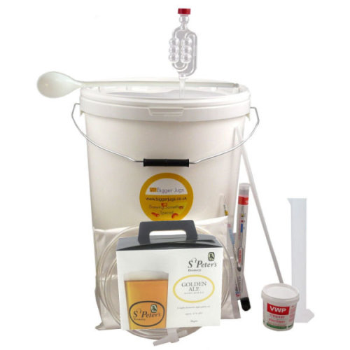 (Golden Ale - 36 Pint) St Peters Starter Beer Making Set with Equipment - Homebrew