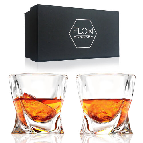 Twist Whisky Glasses Gift Set By FLOW Barware