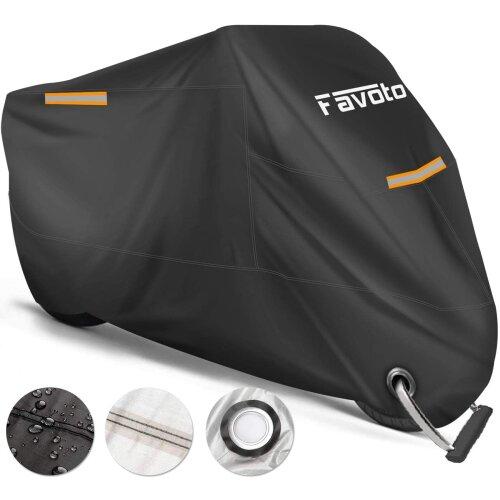 Favoto Waterproof Motorcycle Cover XXXL Motorbike Cover 265cm long