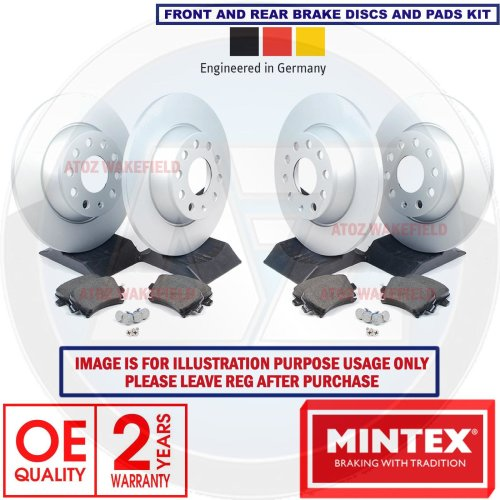 FOR HONDA CIVIC 2.2 CDTi FRONT REAR MINTEX BRAKE DISCS PADS SET KIT 260mm 282mm