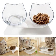 Non-slip Pet Bowls with Raised Stand Dog Cat Food Water Feeding Station