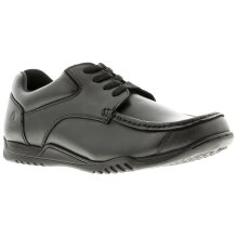 Hush Puppies hudson leather Older Boys Black School Shoes & Trainers black 2 - 6