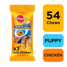 PEDIGREE Puppy Denta Tubo Puppy Treats 3 Stick (Pack of 18)