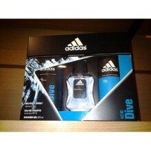 Adidas Ice Dice Gift Set for Men. Contents: 50ml Eau de Toilette & 250ml Shower Gel & 150ml Body Spray