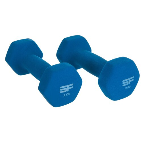 (2Kg x 2 = 4Kg) Neoprene Pair Exercise Dumbbells Weights Gym Fitness Home Aerobic