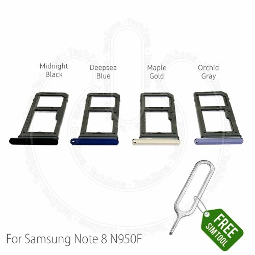 Samsung Galaxy Note 8 N950 N950F Sim Tray Holder & SD Card Holder Slot + Tool