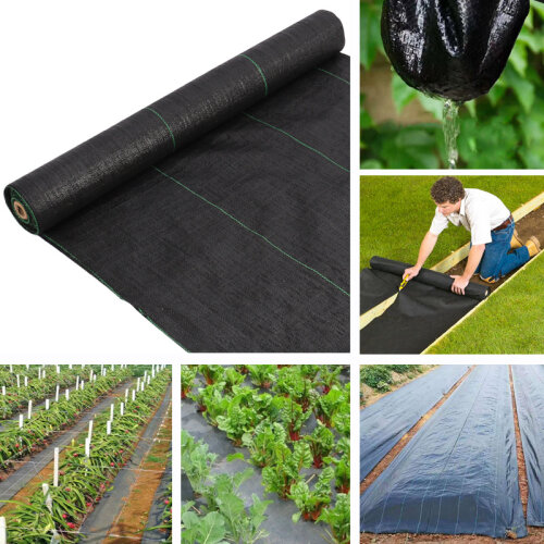 Black Weed Control Fabric Ground Cover Membrane