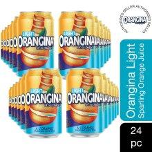 Orangina Light Can Sparkling Juice Drink, 24 CANS
