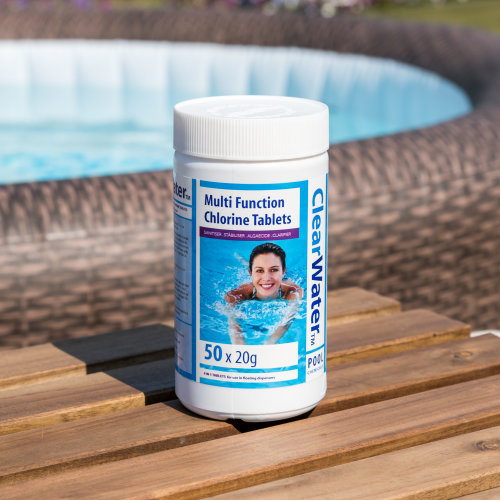 Clearwater Multi Function Chlorine Tablets 50 x 20g. Pool Hot Tub Spa