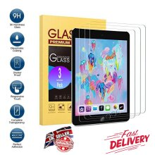 (3 Pack) Ultra Clear 9H Tempered Glass Anti-Fingerprint Anti Shatter HD Screen Protector For Apple iPad AIR 9.7 1st Generation (2013) / 2nd Gen (2014)