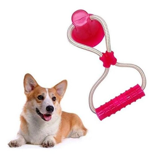 (RED ) Dog Toys Chew Toys Self-Playing Rubber Ball Toy