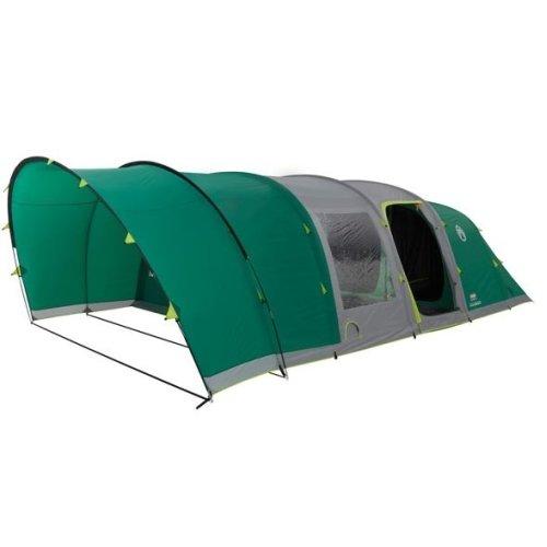 Coleman 6 Man Fastpitch Air Valdes Tent XL Green + Free Camping & Caravanning Club Membership