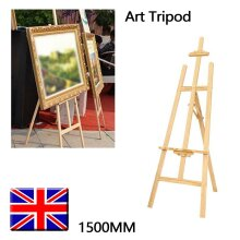 5ft Wooden Tripod A-Frame Easel | Art Canvas Stand For Painting