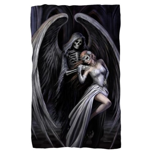 Anne Stokes & Dance with Death-Fleece Blanket, White - 36 x 58 in.