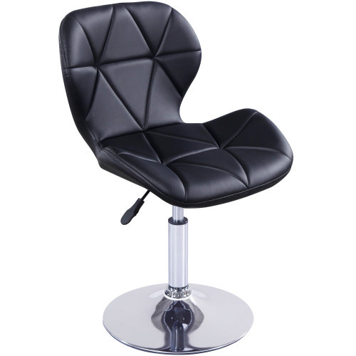 (Black) Charles Jacobs Small Swivel Chair | Home Office Furniture