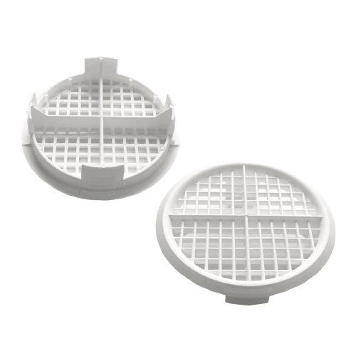 50 x White Plastic 70mm Round Soffit Air Vents / Upvc Push Fit Eaves Disc Fascia