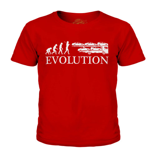 Candymix - Car Transport Lorry Evolution Of Man - Unisex Kid's T-Shirt