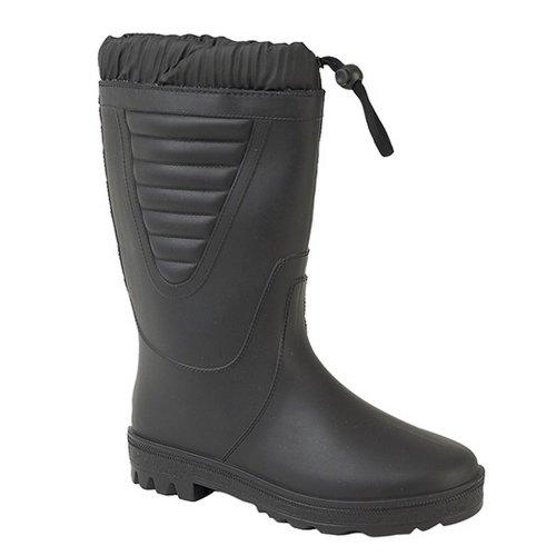 (4 UK, All Black) StormWells Unisex Tie Top Polar Boots