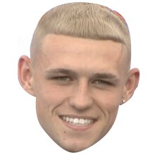 """PHIL FODEN """"NEW HAIR"""" EURO 2021 Inspired Celebrity Face Mask"""