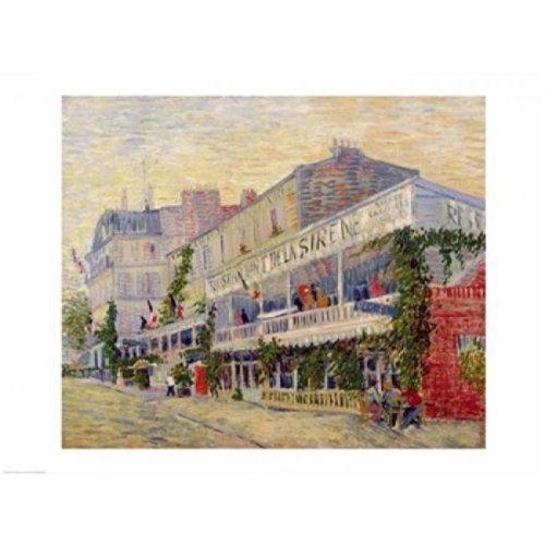 Restaurant De La Sirene at Asnieres 1887 Poster Print by Vincent Van Gogh - 24 x 18 in.