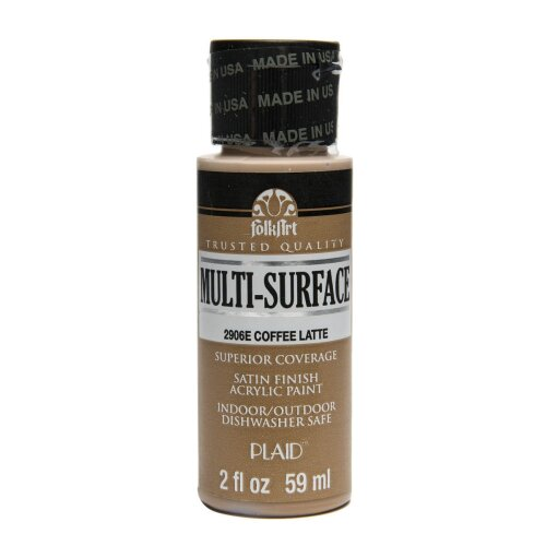 FOLKART ACRYLIC MULTI USE COFFEE LATTE (2OZ)