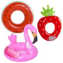"""49""""/125cm Inflatable Rubber Swimming Ring Travel Holiday Lounge Pool Sea Fun Sun"""