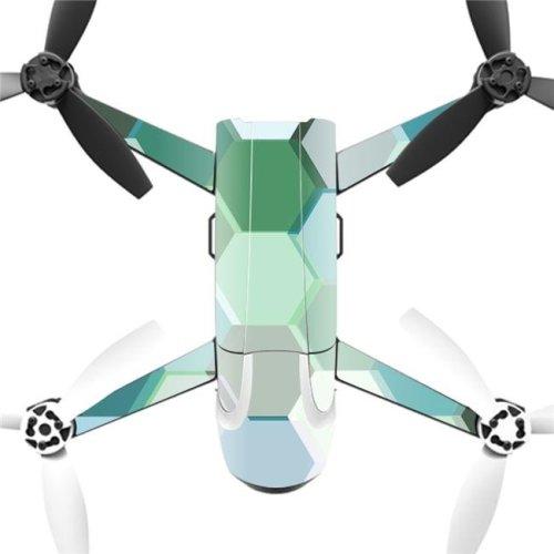 MightySkins PABEBOP2-Hexagon Tiles Skin Decal Wrap for Parrot Bebop 2 Quadcopter Drone - Hexagon Tiles