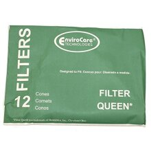 EnviroCare CONE FILTER QUEEN 12 PacK W/2 DISC FILTERS PAPER BAG