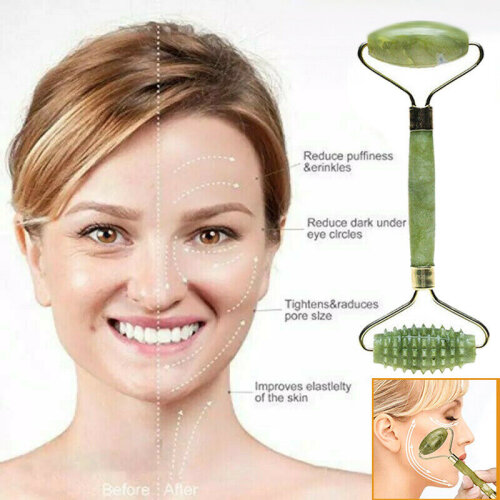 Facial Massage Jade Roller Anti Ageing Slimming Face Body Eye Head Neck Beauty Tool