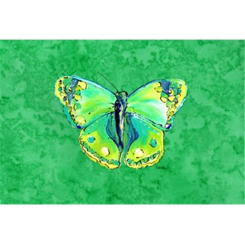 Butterfly Green On Green Fabric Placemat