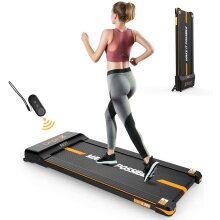 Dripex Under-Desk Treadmill with Remote Control, 1-6KM/H Adjustable Speed, 500W Motor, LCD Screen, Perfect Walking Pad for Home & Office Working