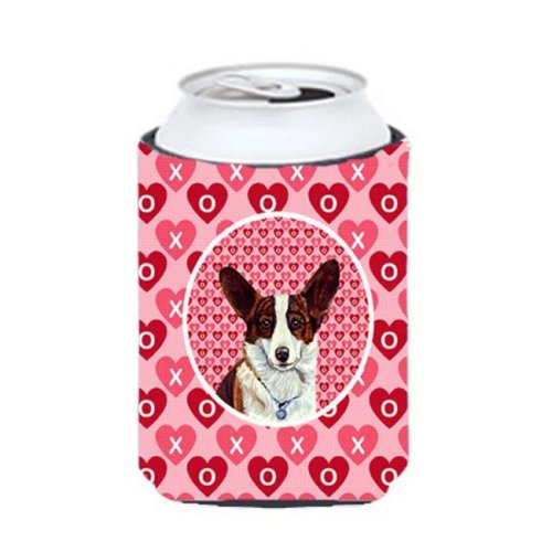 Corgi Valentines Love And Hearts Can Or Bottle  Hugger - 12 oz.