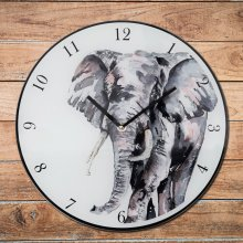 Meg Hawkins Wall Clock 30cm - Elephant