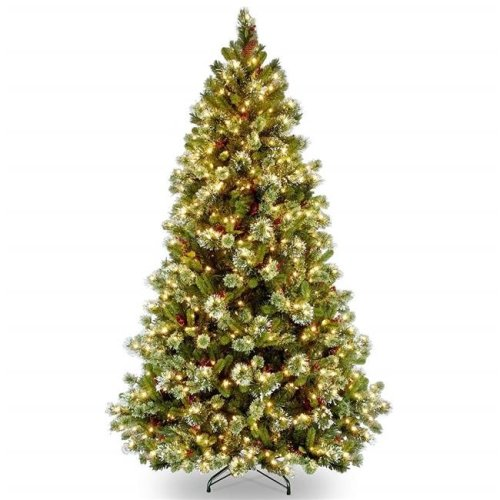 National Tree NRV7-308-75 7.5 ft. North Valley Spruce Hinged Tree with 750 Clear Lights